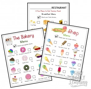 Play Menus for Speech & Language Development