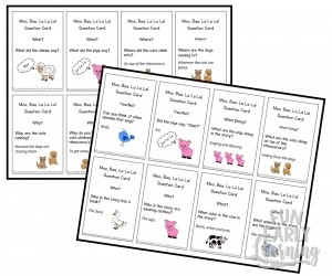 Moo Baa Comprehension Cards