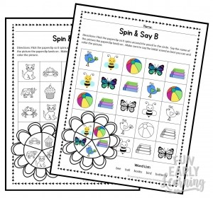 Spin & Say Beginning Sounds
