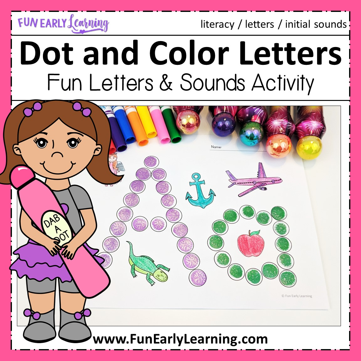 Learning Letters Hands-on Activities Binder