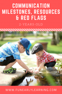CAS Communication Milestones, Resources and Red Flags for 2-Years-Old. Great information on language and communication skills to look for in your child. Also includes helpful resources and tips for speech, articulation, language and more!  #articulation #language