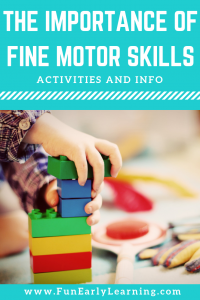 The Importance of Fine Motor Skills in Early Childhood Education. Great activities, tips and tricks for building fine motor skills in toddlers, preschool, kindergarten, and early childhood. #finemotorskills #motoractivities #literacy #math #literacycenters #mathcenters #toddlers #preschool #kindergarten #earlychildhood #funearlylearning