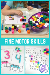 The importance of fine motor skills for preschoolers, for kindergarten, and for toddlers. Great information and activities!