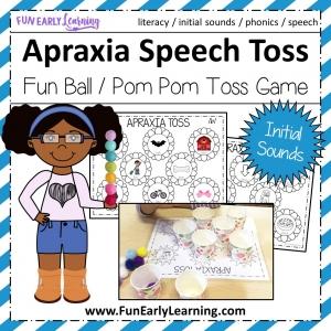 Apraxia Toss Initial Sounds Speech Activity