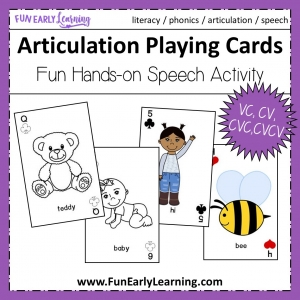 Articulation Playing Cards for Speech and Language Development