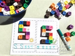 Snap Cube Letters Activity