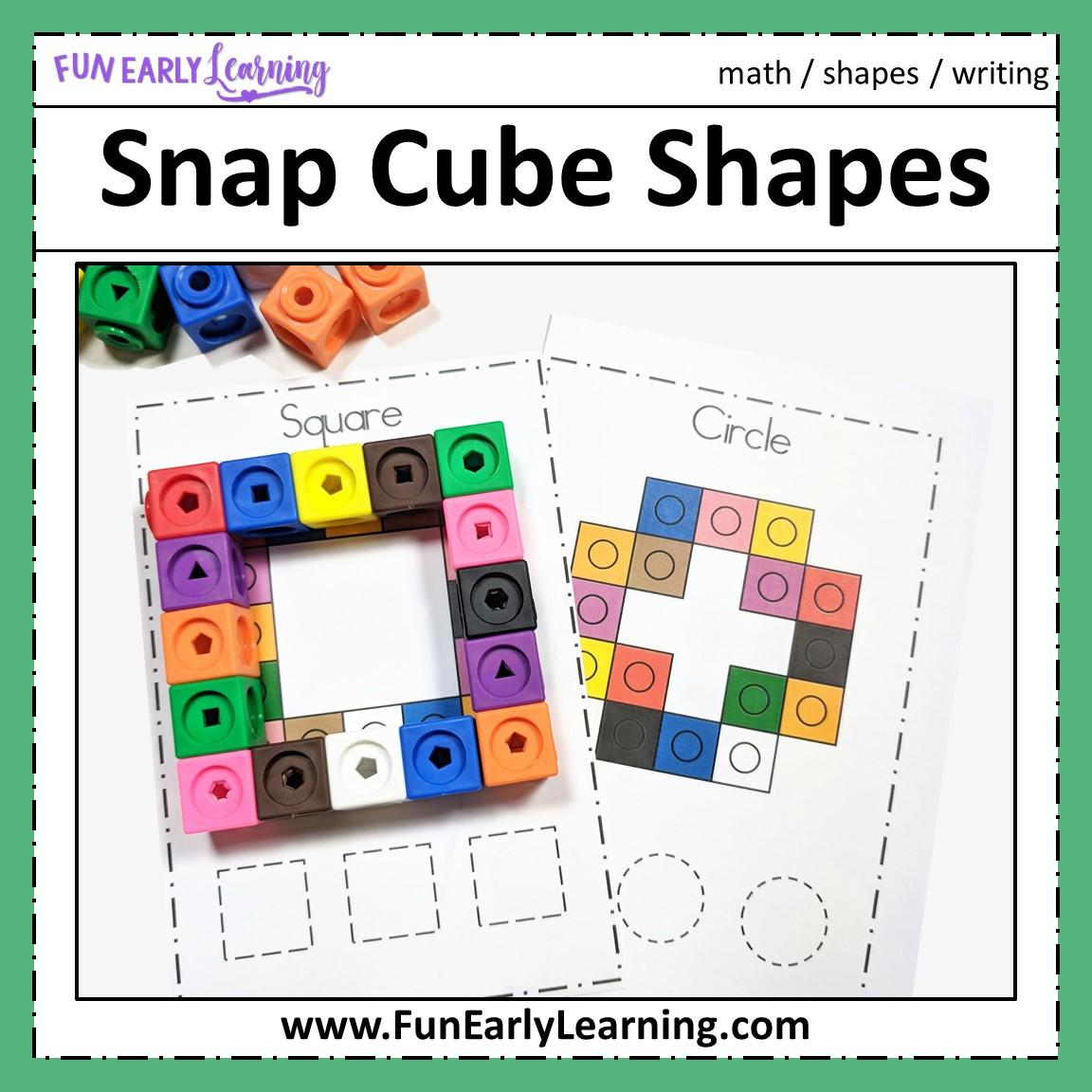 Snap Cube Shapes Math Activity