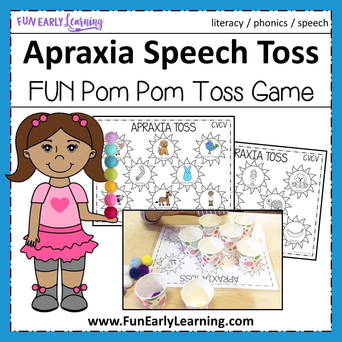 apraxia speech toss for cv cvc and cvcv words