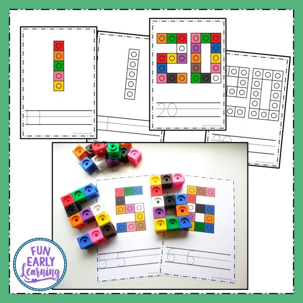 Snap Cube Numbers Free Printable Math Activity! Great for learning number recognition and identification, number formation, writing and matching. Fun activity for preschool, pre-k, kindergarten, RTI, and early childhood! #math #mathcenter #snapcubes #numbers #numberactivity #earlymath #numberrecognition #numberwriting #preschoolmath #kindergartenmath #RTI #earlychildhood #freeprintable #freeactivity