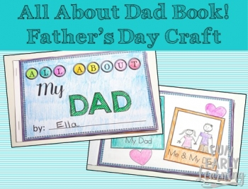 All About Dad Book for Father's Day. Tell dad all about how much you love him with this fun and easy craft! Perfect for preschool, kindergarten, early childhood, elementary, and middle school! #fathersday #kidscraft #kidsgiftidea