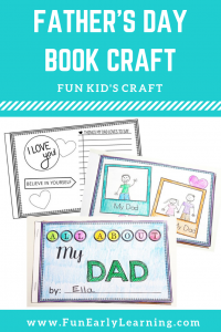 All About Dad Father's Day Crafts for Kids! Fun and Easy Father's Day Craft to make and DIY. Great for preschool, kindergarten and school.