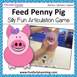 Feed Penny Pig Articulation Game