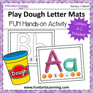 Play Dough Letters Literacy Activity