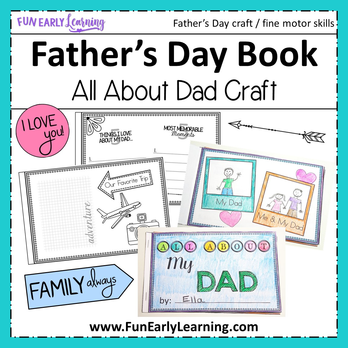 All About Dad Book Father S Day Craft For Children