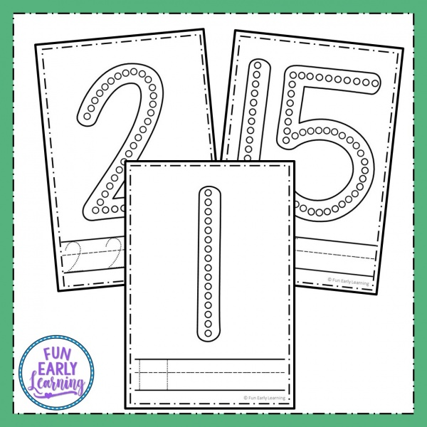 Dab-a-Dot Numbers Free Printable! Fun numbers activities for preschool, kindergarten and first grade. Perfect for learning and writing numbers 1-20. #mathcenter #numbersactivities #funearlylearning