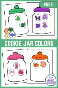 Cookie Jar Colors! Fun colors activities and free printables for preschool,  kindergarten and kids!