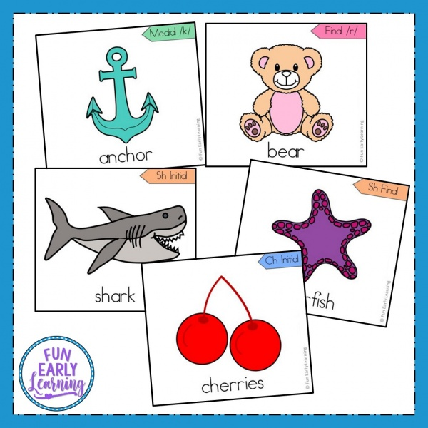 Apraxia Speech Cards Set Level 2 Advanced Sounds. Focuses on articulation of advanced sounds. Great speech therapy cards for preschool, kindergarten, and early childhood. #articulation #speechtherapy #apraxia