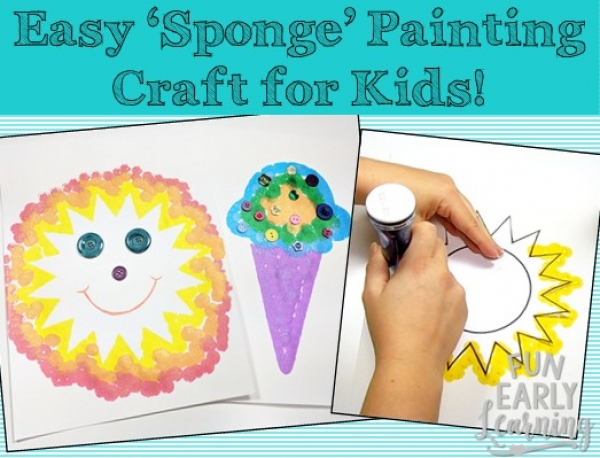 Easy Summer 'Sponge' Painting Crafts for Kids