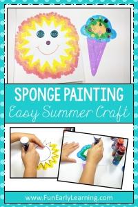 Easy Summer 'Sponge' Painting Crafts for Kids