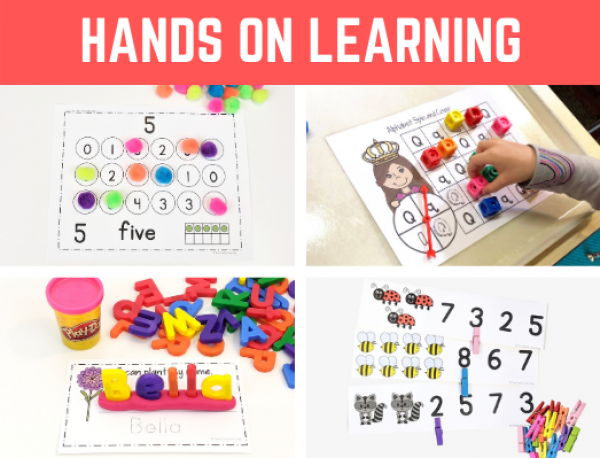 Importance of Hands-on Learning for Kids. Fun activities and ideas for preschool, pre-k, kindergarten, and early childhood. Great for at home learning and in school. #handsonlearning #preschool #kindergarten