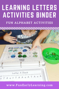 Learning Letters Hands-on Activities Binder! Fun letter activities for preschool, kindergarten, pre-k, kindergarten RTI, and early childhood! Letter recognition, letter identification, letter-sound correspondence, and writing. #letters #letteractivity #alphabet #alphabetactivity #literacy #literacycenter #kindergarten #kindergartenrti #preschool #prek #earlychildhood