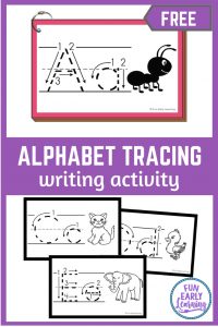 Alphabet Tracing Cards free printables! Fun activity to practice uppercase and lowercase letters and writing / handwriting. #freeprintable #literacycenter #funearllylearning