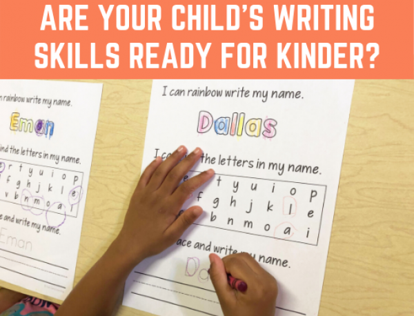 2 ways to know if your child's writing skills are ready for kindergarten. Is your child ready? Here's how to assess them and promote their skills. #writingstandards #kindergartenreadiness #preschoolassessment #freeassessment
