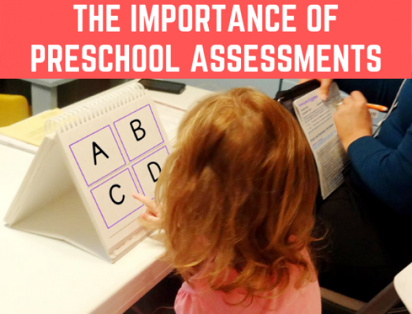 The importance of preschool assessments for kindergarten readiness. What and how to assess different skills. Free assessment included! #preschoolassessment #kindergartenreadiness #freeprintable