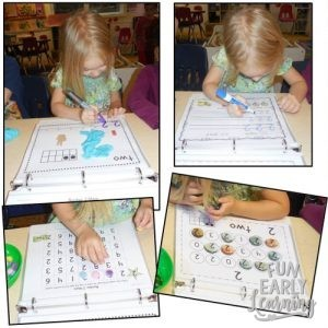 Learning Numbers Binder