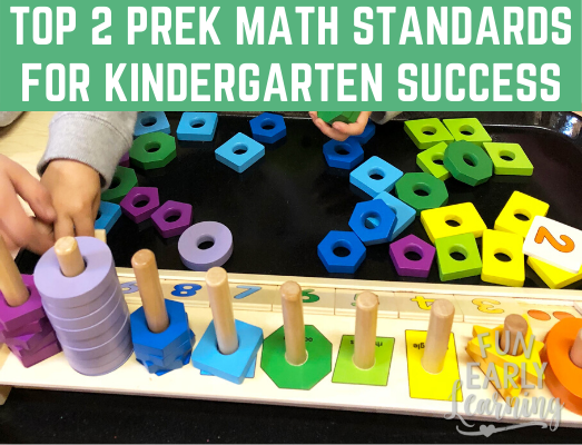 Learn the Top 2 Pre-K Math Standards Your Child Needs to Know BEFORE Kindergarten to be Successful! Is your child ready? Here's how to assess them and promote their skills. #mathstandards #kindergartenprep #kindergartenreadiness #preschoolassessment #freeassessment