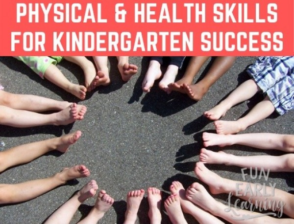 Does your child have the top physical and health skills they need to be successful in kindergarten? We'll walk you through the top skills and how to build them! #kindergartenprep #physicalandhealthskills #grossmotorskills #freeassessment