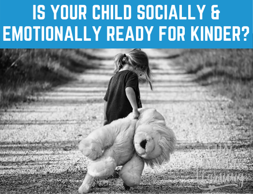 Is Your Child Socially and Emotionally Ready for Kindergarten? Read here for how to assess where they're at and how to promote their growth. #kindergartenprep #socialdevelopment #emotionaldevelopment #freeassessment