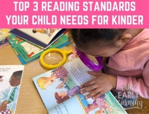Top 3 Reading Standards Your Child Needs to Know Before Kindergarten. Is your child ready? Here's how to assess them and promote their skills. #readingstandards #kindergartenreadiness #preschoolassessment #freeassessment