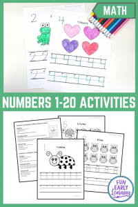 Numbers 1-20 Worksheets for Preschool and Kindergarten. Fun activities and guided lessons for writing practice. Great for learning in the classroom and at home! #numbersactivities #mathcenter #funearlylearning