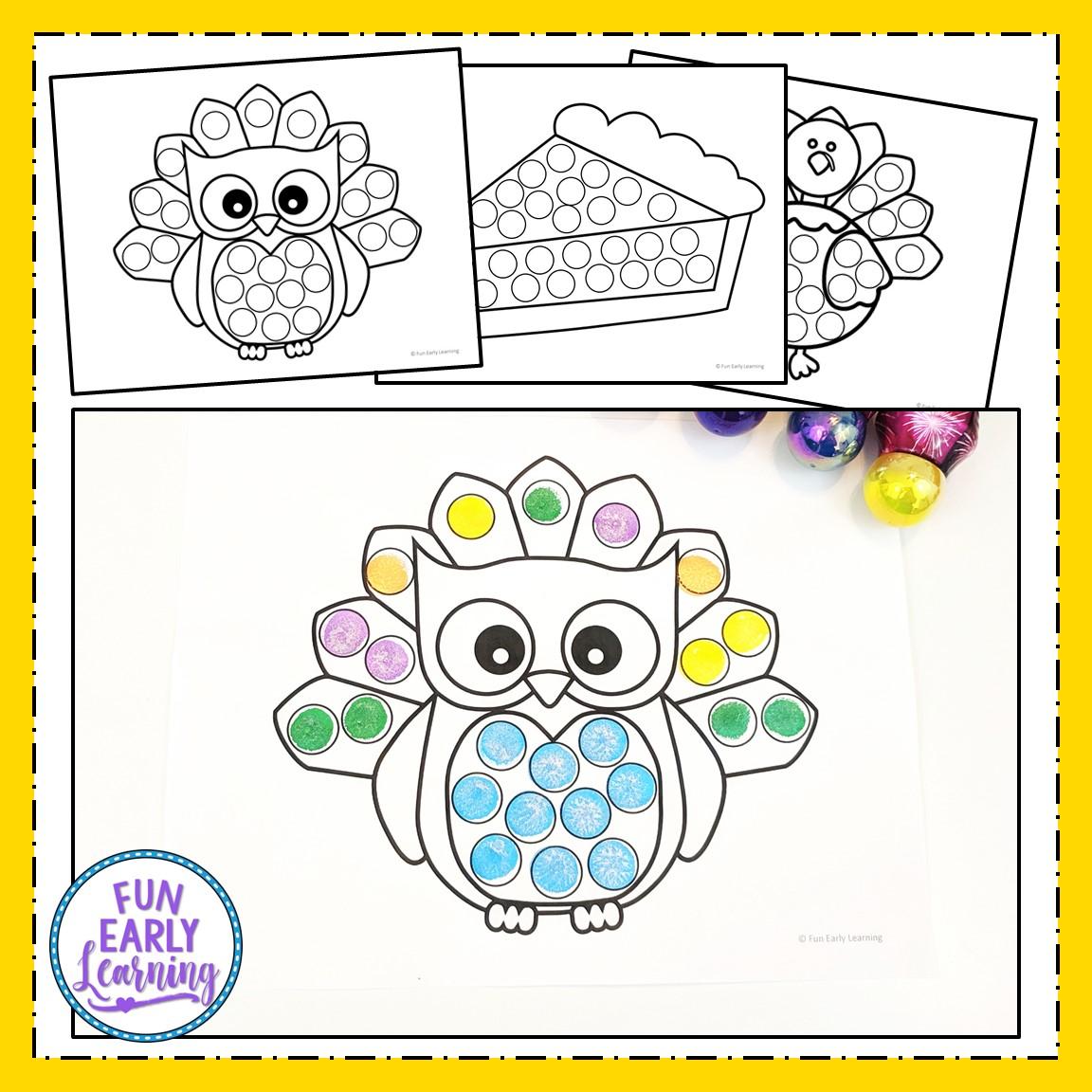 graphic relating to Free Printable Thanksgiving Bingo titled Thanksgiving Bingo Dauber Coloring Webpages Totally free Printable