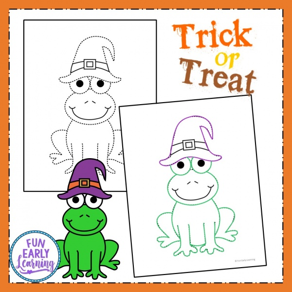 Halloween Fine Motor Tracing Free Printable! Fun Halloween and fall fine motor tracing activity that's perfect for toddlers, preschool, kindergarten and early childhood! #halloween #halloweenprintable #preschoolhalloween #kindergartenhalloween #finemotortracing #freeprintable #freeactivity #funearlylearning