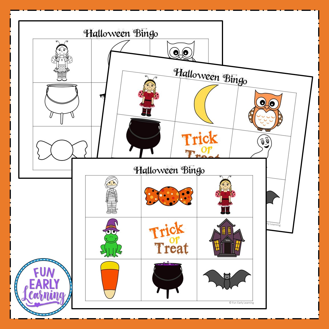 photo regarding Free Halloween Bingo Printable known as Halloween Bingo No cost Printable for Preschool and Kindergarten
