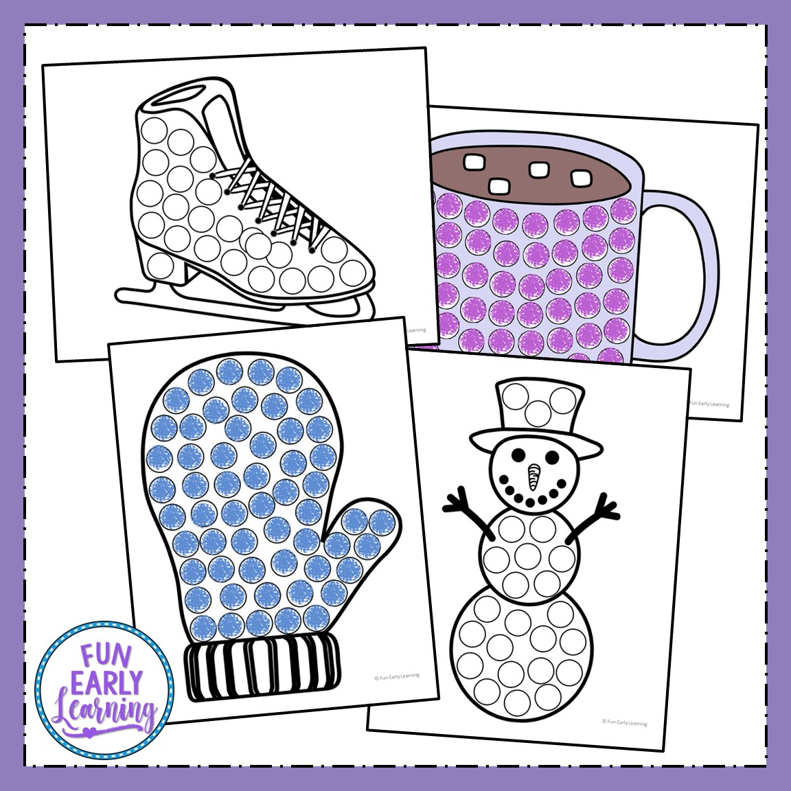 Winter Bingo Dauber Coloring Pages