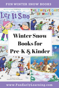 Our Favorite Winter Snow Books for Preschool and Kindergarten. Liven up and celebrate Winter and Snow with these fun and educational stories. #winter#winterbooks #preschoolwinter #kindergartenwinter