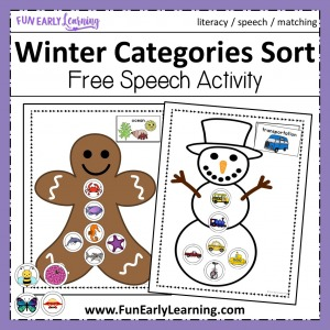 Letters and Phonics Literacy Curriculum Complete Preschool Math Curriculum Winter Snowman Building Letter Sound Correspondence  Matching Mittens Rhyming Winter Bingo Dauber Coloring Pages Winter Categories Sorting Speech Activity