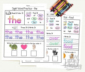 Sight Word Practice Bundle for Fry's 1st, 2nd and 3rd 100 sight words! Children will complete 4 fun activities while learning beginning reading skills and writing. Perfect for preschool, kindergarten and RTI.