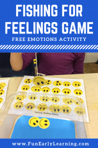 Fishing for Feelings Free Printable Activity! This activity is great for teaching children about feelings and emotions. It's perfect for toddlers, preschool, kindergarten and early childhood.