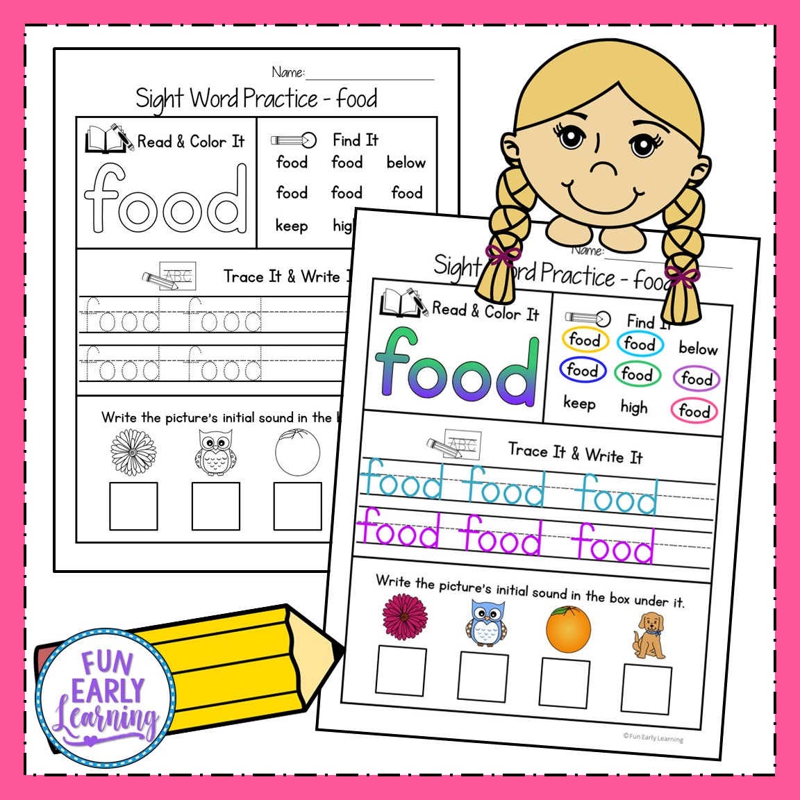 Sight Word Practice Bundle For Fry S 1st 2nd And 3rd 100 Sight Words