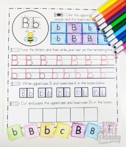 Handwriting Activity Sheets Fun No Prep Printable! Learning letter identification, uppercase and lowercase letters, letter writing and sorting with these fun no prep worksheets. Perfect for preschool, kindergarten and RTI. #alphabetactivity #handwriting #funearlylearning