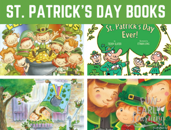 Our Favorite St. Patrick's Day Books for Preschool and Kindergarten. Liven up and celebrate St. Patrick's Day with these fun and educational stories. #stpatricksday #readinglist