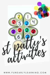St. Patrick's Day Activities for Kids! Fun bundle or activities and printables for learning letters, blends, phonics, rhyming, numbers and counting!