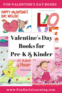 Our Favorite Valentine's Day Books for Preschool and Kindergarten. Liven up and celebrate Valentine's Day with these fun and educational stories. #valentinesday #valentinesbooks #readinglist #funearlylearning