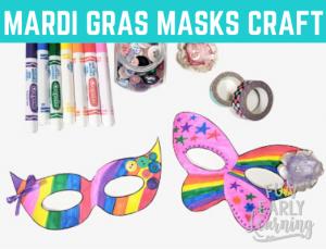 Mardi Gras Free Kid's Craft! Fun free printable art project for children to celebrate Mardi Gras.