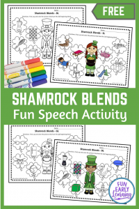 Shamrock L Blends Articulation Speech Activity. Fun articulation activity for working on beginning blends in preschool and kindergarten.