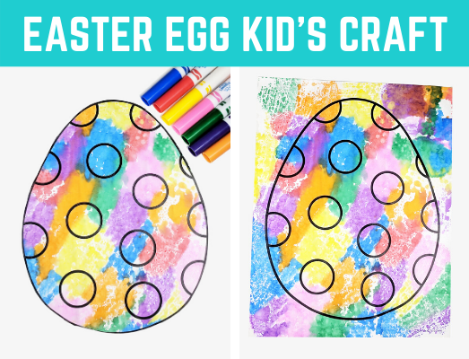 Fun Easter Egg Kid's Craft! Awesome and easy kid's craft with free Easter egg template. Just print and make a creative art project with this Easter egg kid's activity! #Easter #kidscraft #funearlylearning